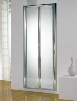 Original 900mm Silver Bifold Shower Door With Tray And Waste