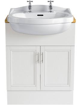 Caversham White Ash 640mm Double Door Furniture Vanity Unit