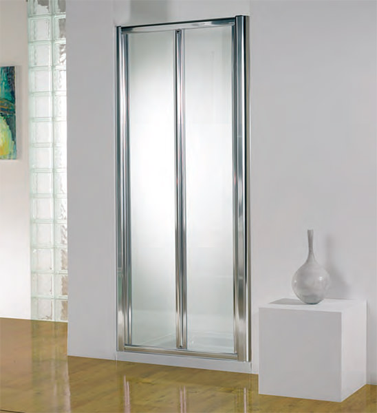 Large Image of Kudos Original 800mm White Bi-fold Shower Door With Tray And Waste