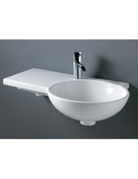 Gina 1 Tap Hole Wall Hung Basin 675mm Left Hand - GINALH