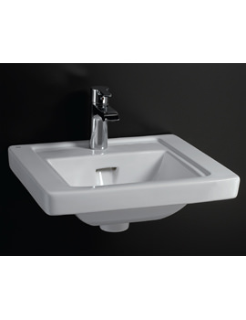 Empire 1 Tap Hole Wall Hung Basin 450mm Wide - EMP45BAS1
