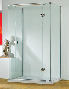 Infinite 900mm RH Straight Hinged Shower Door With Tray And Waste