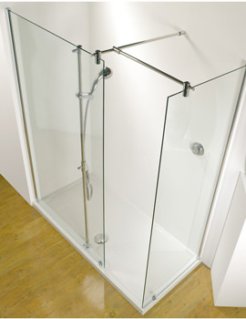 Ultimate 1500 RH Corner Walk-In Panel With Shower Tower