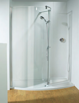 Ultimate 1700 LH Recess Walk-In Package With Shower Tower