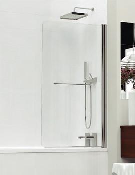 Inspirational 850mm White Frame Bath Screen - 3BASCW