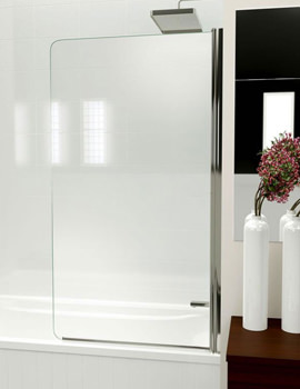 Kudos Inspirational 850mm Straight Bath Screen Without Handle