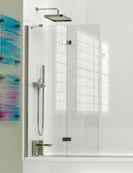 Inspirational 2 Panel In-Fold Bath Screen - 4BASCDUOLHS