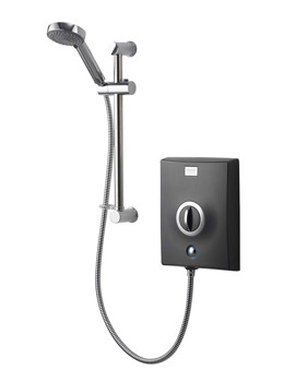 Quartz 10.5 KW Electric Shower Graphite And Chrome - QZE10511