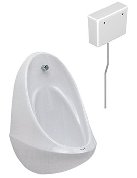 Spectrum 1 Urinal Set With Concealed Flushpipe And Cistern