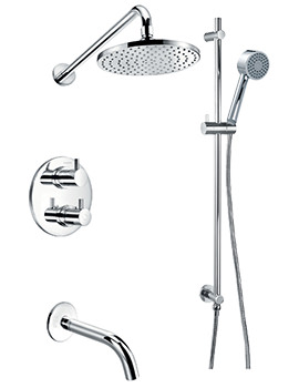 Levo Thermostatic Complete Shower Set With Bath Spout