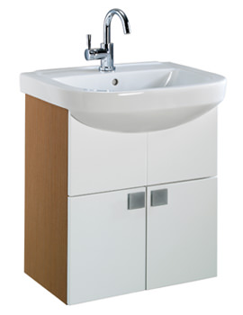 Twyford Refresh Square 650 x 480mm Furniture And Basin Set