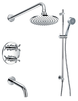 XL Thermostatic Complete Shower Set With Bath Spout