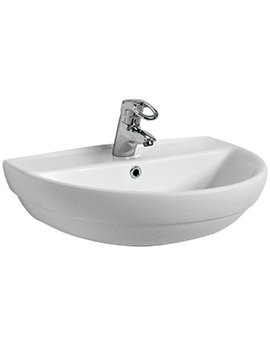 Twyford Refresh 600 x 480mm 1 Tap Hole Washbasin - RE4321WH