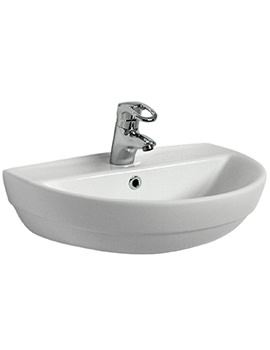 Twyford Refresh 550 x 440mm 1 Tap Hole Washbasin - RE4221WH