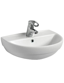 Twyford Refresh 500 x 410mm 1 Tap Hole Washbasin - RE4121WH