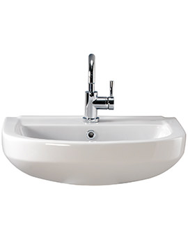 Twyford Refresh Square 500 x 420mm 1 Tap Hole Basin - RS4111WH