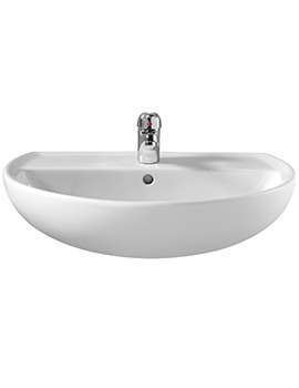 Twyford Alcona 500 x 409mm 1 Tap Hole Washbasin - AR4111WH