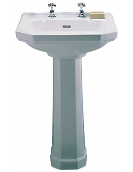 Clarice 1 Tap Hole Washbasin 580 x 455mm - CL4211WH