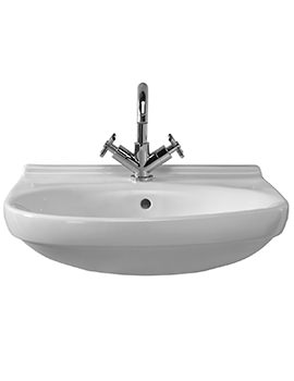 Twyford Grace 500 x 450mm 1 Tap Hole Washbasin - GC4111WH
