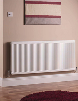 600 x 500mm Single Panel Central Heating Radiator - Q11506KD
