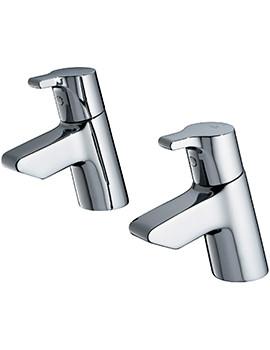 Active Pair Of Bath Pillar Taps - B8076AA