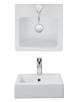 Bauhaus Hey II Semi Inset Basin 400mm - HJ0004SCW