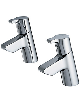 Ideal Standard Active Pair Of Basin Pillar Taps - B8074AA