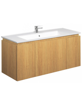 Related Bauhaus Linea Spanish Oak 1200mm Single Drawer-2 Door Basin Unit