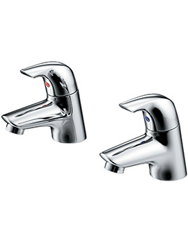 Ceraplan SL Pair Of Bath Pillar Taps - B7885AA