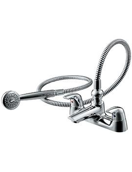 Ceraplan SL 2 Hole Bath Shower Mixer Tap With Shower Set