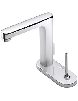 Related Ideal Standard SimplyU Rectangular Spout Basin Mixer With Oval Backplate