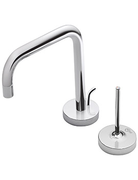 Related Ideal Standard SimplyU 2 Hole Basin Mixer With 2 Round Backplates