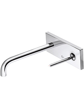 SimplyU Cylindrical Spout Wall Mounted Basin Mixer