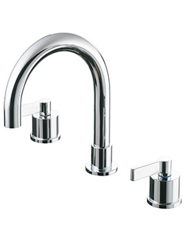 Silver 3 Hole Deck Mounted Bath Filler Tap