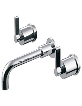 Ideal Standard Silver 3 Hole Wall Mounted Basin Mixer With 150mm Spout