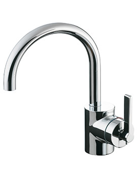 Silver Single Lever One Tap Hole Basin Mixer Tap