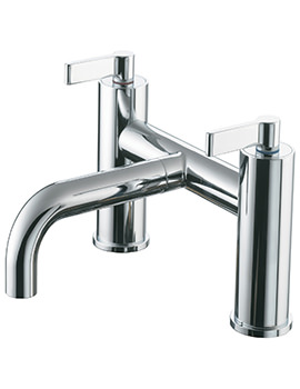 Silver 2 Taphole Deck Mounted Bath Filler Tap