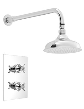 Dawlish Chrome Shower Valve With Deluxe Fixed Kit