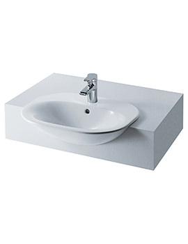 Tonic 600mm Semi Countertop Washbasin - K070101