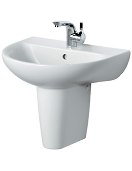 Create Edge 550mm Semi Pedestal Basin