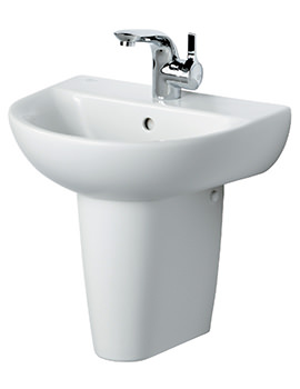 Create Edge Handrinse Basin With Semi Pedestal