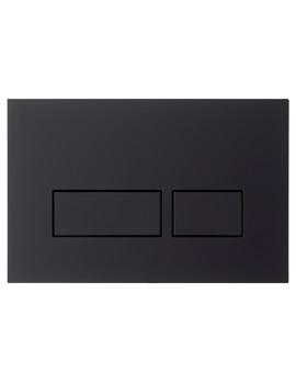 Bauhaus Tempo Black-Chrome Dual Flush Plate - TEFLUSHB