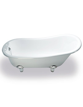 Romano Natural Stone Bath 1690mm With White Classic Feet
