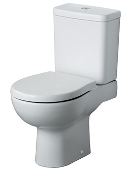 Create Close Coupled WC Pan 650mm With Cistern