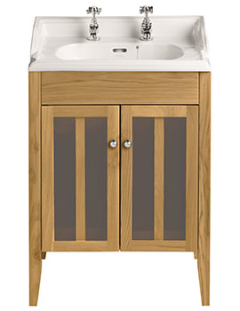 Hidcote Freestanding Oak Vanity Unit For Dorchester Square Basin