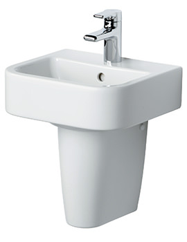 Create Square 400mm Handrinse Basin With Pedestal