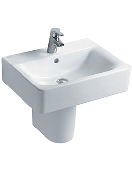 Related Ideal Standard Concept Cube 550mm 1 Taphole Basin And Full Pedestal