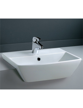 Summit 1 Tap Hole Semi Recessed Basin 500mm - SUM50SR1