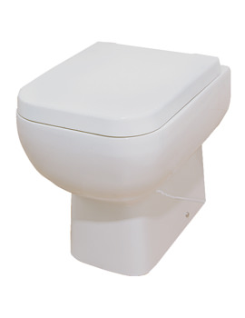 RAK Series 600 Back To Wall WC Pan With Soft-Close Seat 500mm