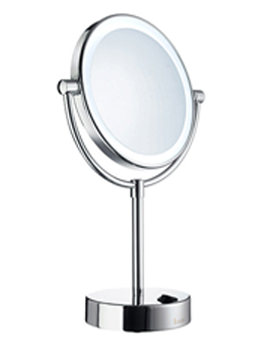 Related Smedbo Outline Free Standing LED Shaving And Make-Up Mirror - FK474